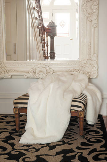 Heirloom Exotic Faux Fur Cushion/ Throw - Polar Bear