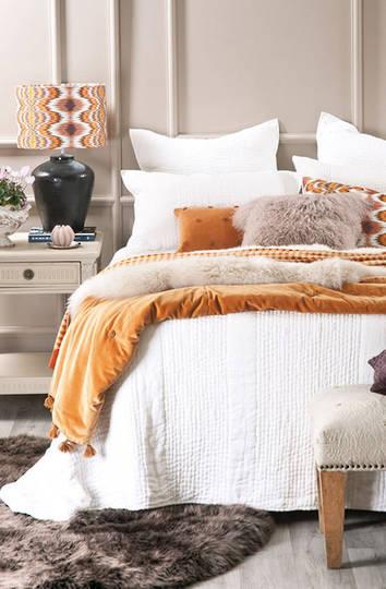 Bianca Lorenne - Ricamo White Bedspread / Eurocase