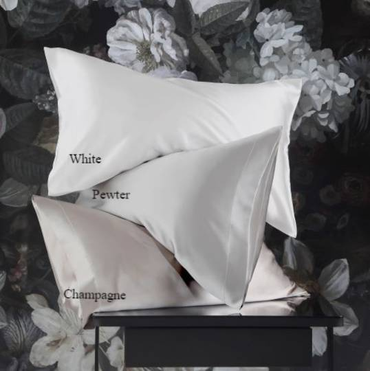 MM Linen - Silk Pillowcases - Champagne, Pewter, White