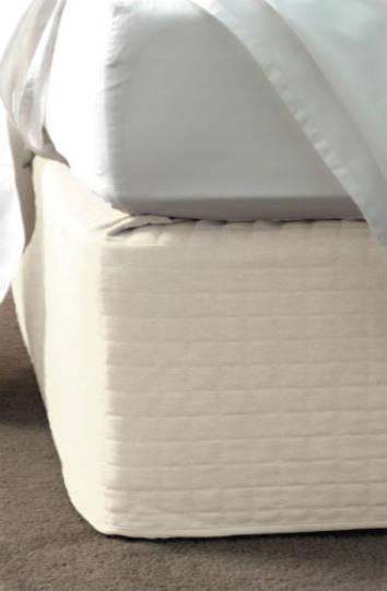 Linen House - Suede Quilted Bedwrap  Cream - 45cm Drop
