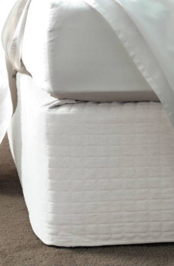 Linen House - Suede Quilted Bedwrap White - 45cm Drop