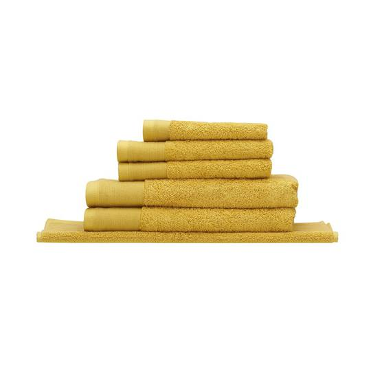 Seneca - Vida Organic Towels, Face Clothes, Hand Towels, Bath Mats - Saffron