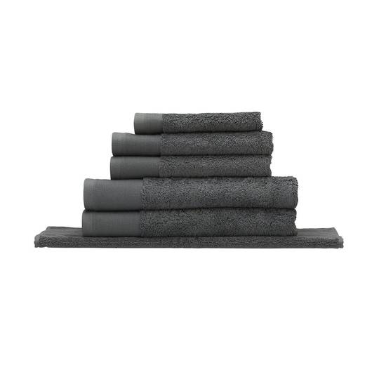 Seneca - Vida Organic Towels, Face Clothes, Hand Towels, Bath Mats - Charcoal