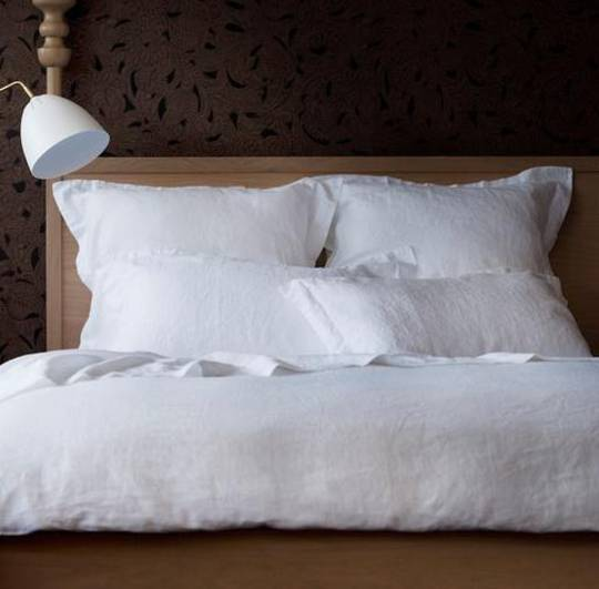 Seneca - Vida Linen Sheets / Pillowcases - White