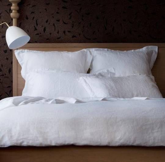 Seneca - Vida Linen Duvet Cover - White