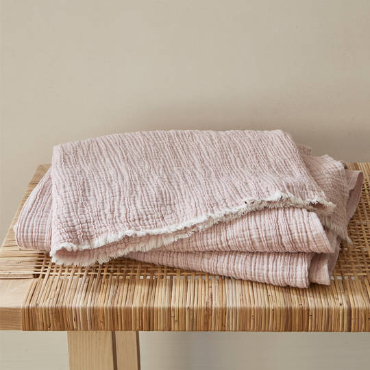 Baksana - Divine Cotton Throw - Pink