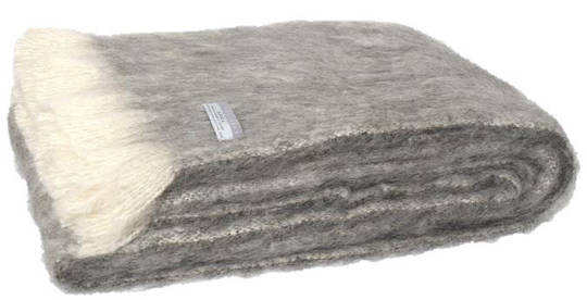Alpaca Granite - Brushed Throw by Master Weave