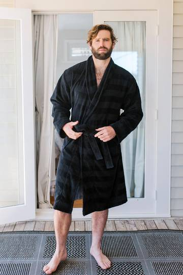Baksana - Aiden Bathrobe - Black
