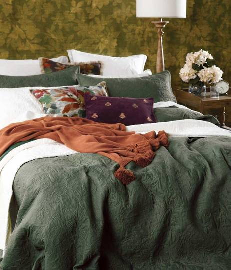 MM Linen - Ancara KING Bedspread Set - Clover - ON SALE