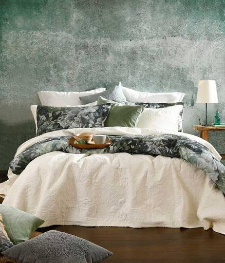 MM Linen - Ancara Bedspread Set - Ivory - Super King ON SALE