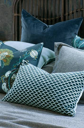 Bianca Lorenne - Arco Cushion - Prussian Blue
