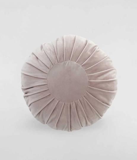 MM Linen - Aurum Rosewood Round Cushion