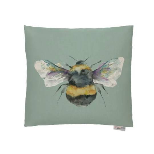 Voyage Maison - Bee Cushions - Duckegg/ Linen/Silver/Slate