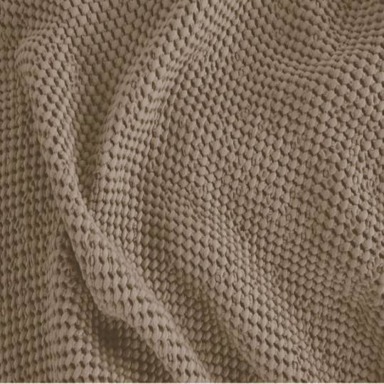 Baksana - New Bliss Stonewashed Throw/Blanket/ Eurocase/Cushion - Beige