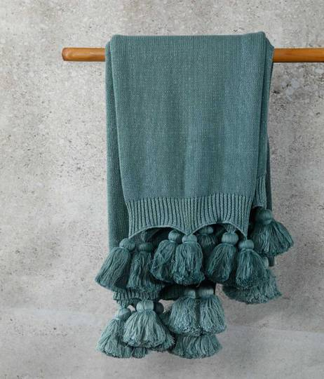 MM Linen - Birch Throw - Seafoam
