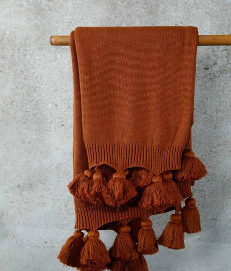 MM Linen - Birch Throw - Terracotta