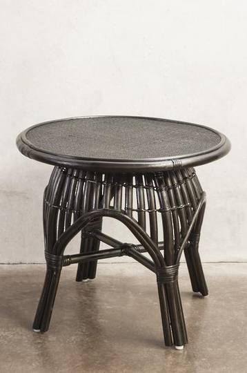 Bianca Lorenne - Bosa Black Rattan Bedside/Coffee Table