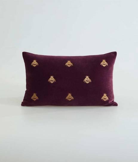 MM Linen Buzz Cushion - Port