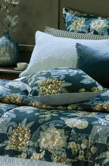 Bianca Lorenne - Chabana - Comforter / Pillowcase/Eurocase/Cushion - Prussian Blue