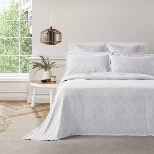Baksana - Citron Bedspread Set - White