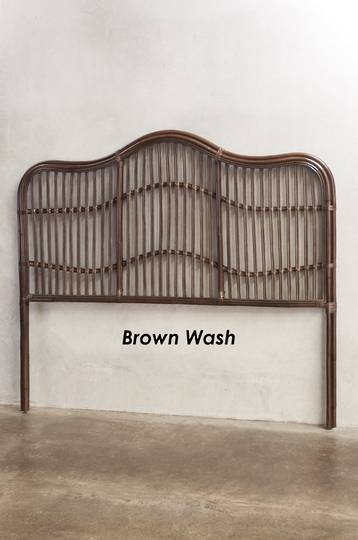 Bianca Lorenne - Curvare Rattan Headboard - Brown Wash