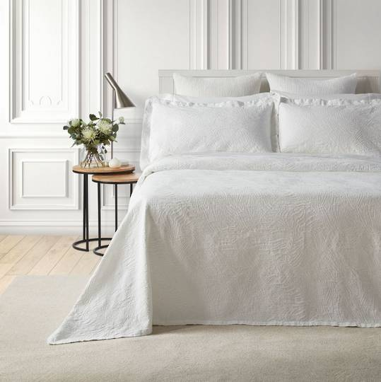 Baksana - Dunes Bedspread Set - White.