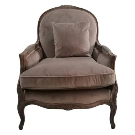 French Country - Elenor Chair - Camel Velvet