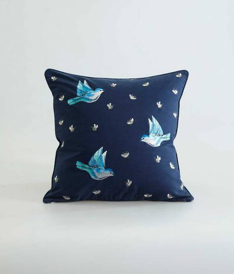 MM Linen Flyaway Cushion - Navy
