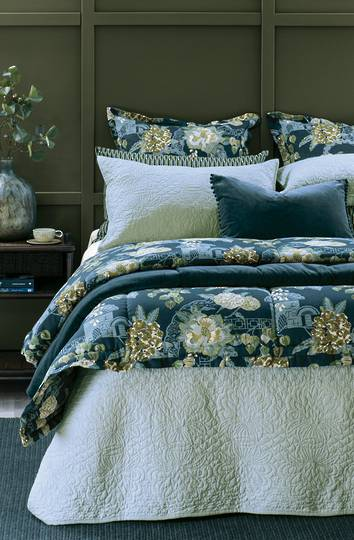 Bianca Lorenne - Fontanella - Bedspread - Pillowcase and Eurocase Sold Separately - Duck Egg