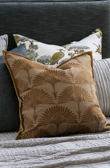 Bianca Lorenne - Furaito Cushion - Hazel/Antique Gold