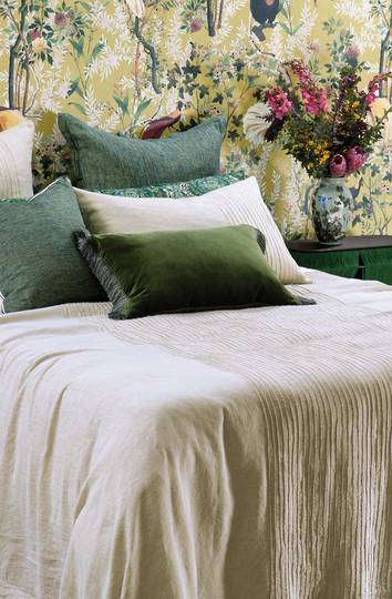 Bianca Lorenne - Kaiyu - Bedspread - Pillowcase and Eurocase Sold Separately - Natural Linen
