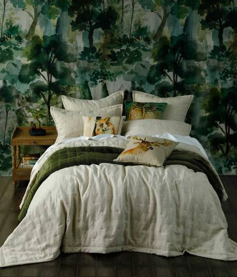 MM Linen - Laundered Linen Bedspread Set - Natural