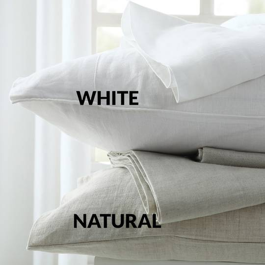 MM Linen - Laundered Linen - Sheet Set - White