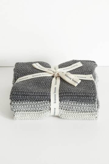 Bianca Lorenne - Lavette Dish Cloth Set - Grey