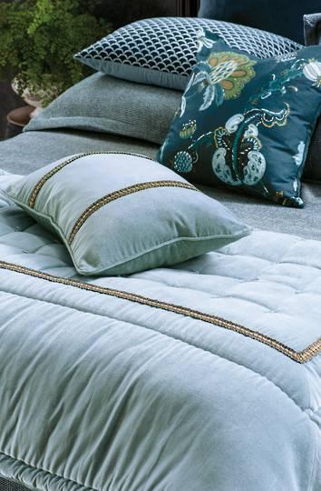 Bianca Lorenne - Luchesi Comforter/ Eurocase /Cushion - Smoke Blue