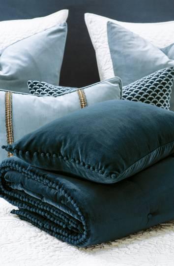 Bianca Lorenne - Mateo Comforter/ Eurocase /Cushion - Prussian Blue
