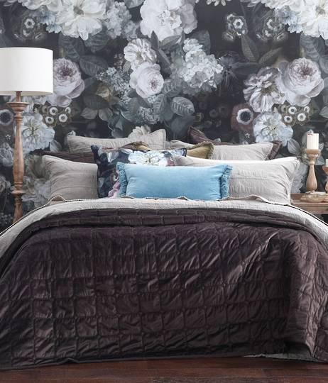 MM Linen - Meeka Coffee Quilted Comforter Set / Eurocase Set
