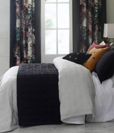 MM Linen - Meeka Ebony Quilted Comforter Set / Eurocase Set