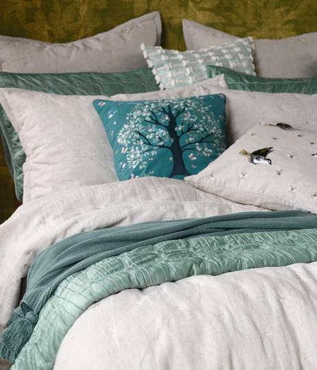 MM Linen - Meeka  Laurel Quilted  Comforter Set  / Eurocase  Set