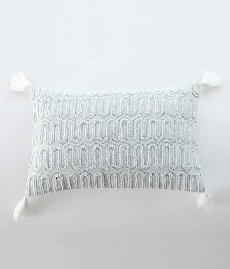 MM Linen - Messina Cushion - Duckegg