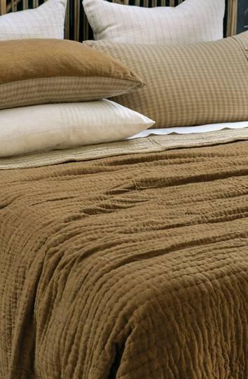 Bianca Lorenne - Misaka- Bedspread - Pillowcase and Eurocase Sold Separately - Dark Ochre