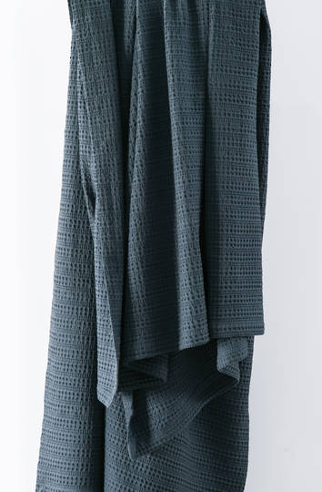 Bianca Lorenne - Mizumi Woven Cotton Throw - Dark Prussian Blue