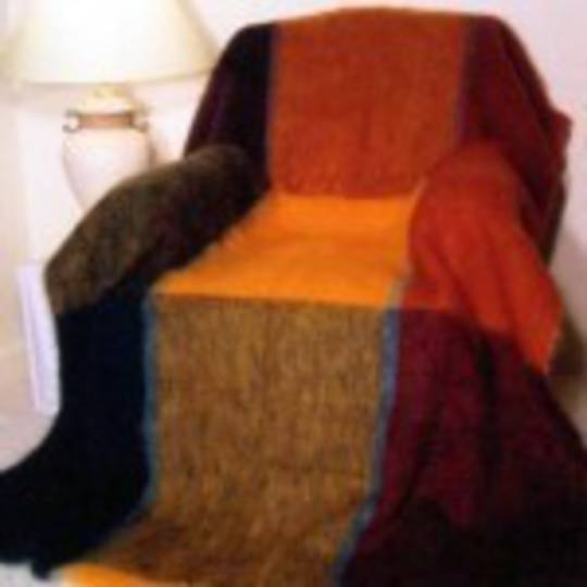 New Zealand Made Windermere Mohair Plaid Throw - Picasso