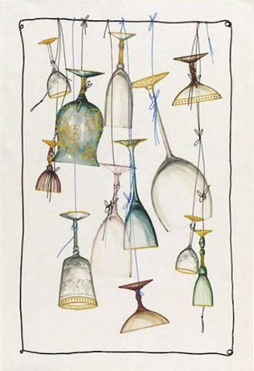 Importico - Tessitura Toscana Telerie - Murano Glass Linen Teatowel