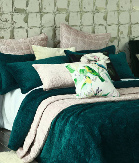 MM Linen Naja Deep Teal King Bedspread Set