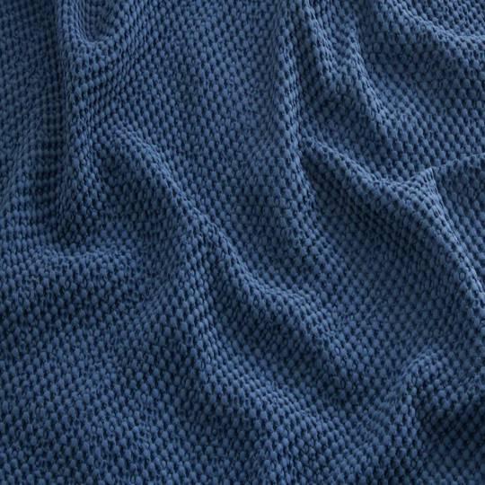 Baksana - New Bliss Stonewashed Throw/Blanket/ Eurocase - Navy