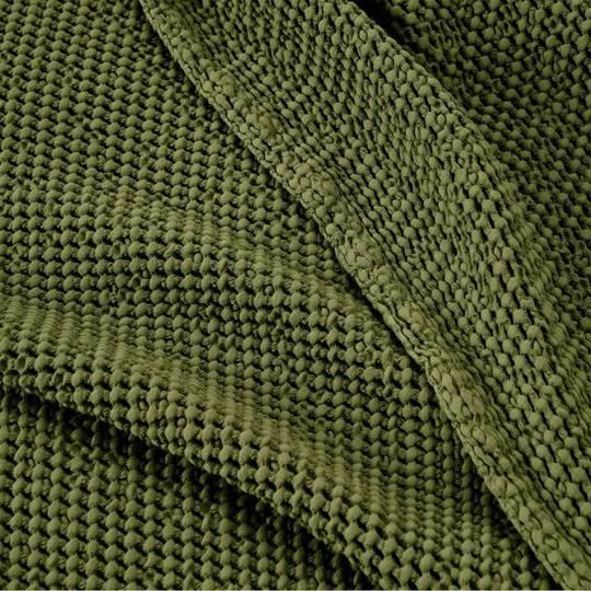 Baksana - New Bliss Stonewashed Throw/Blanket/ Eurocase - Olive