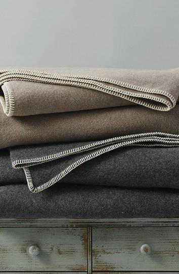 MM Linen - Wellshead NZ Wool  Blanket - Taupe