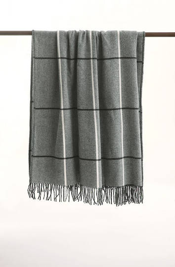 MM Linen - Darcy NZ Wool Throw - Grey