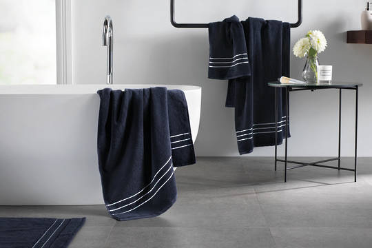 Sheridan - Palais Lux Towel -  Midnight
